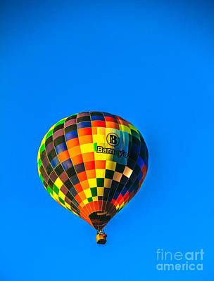 Barney's Hot Air Balloon Art Print