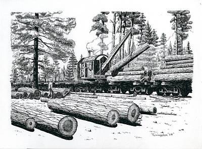 Drawing - Barnhart Log Loader by Timothy Livingston