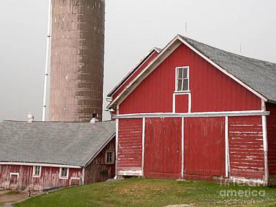 Photograph - Barns And Silo by David Bearden