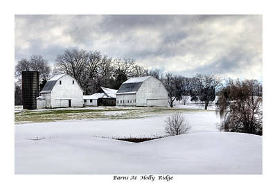 Barns At Holly Ridge Art Print by Terry Spencer