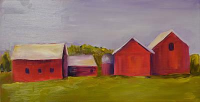 Painting - Barns Near Sister Bay by Pat Olson