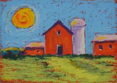 Pastel - Barns Near Sister Bay Wi. by Pat Olson
