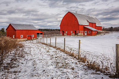 Horse Snow Photograph - Barns Of New York by Everet Regal