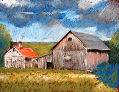Pastel - Barns On Maple Street by Lenore Gaudet