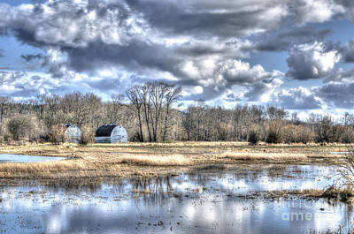 Photograph - Barns On The Delta 1 by Sarah Schroder