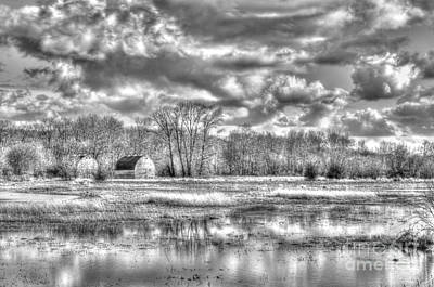 Photograph - Barns On The Delta 2 by Sarah Schroder
