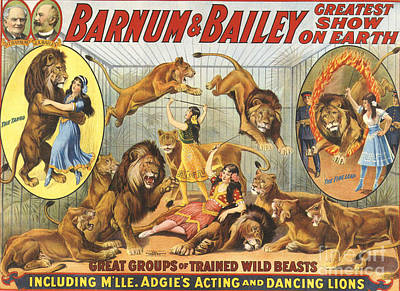 Nineteen-tens Drawing - Barnum & Bailey�s  1915 1910s Usa by The Advertising Archives