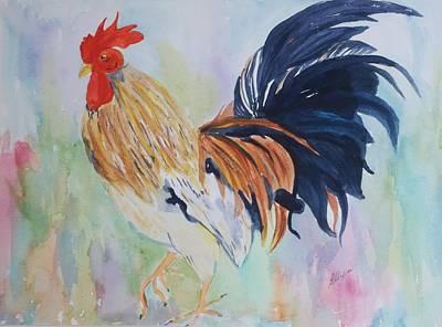 Painting - Barnyard Boss by Ellen Levinson