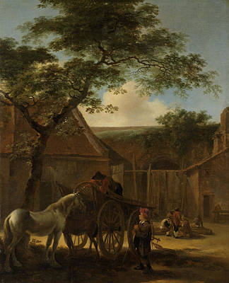 Barnyard Drawing - Barnyard, Circle Of Jan Both by Litz Collection