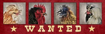 Chicken Digital Art - Barnyard Gang Wanted by Lori Deiter