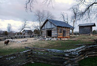 Laura James Photograph - Barnyard Of Old by Laura James