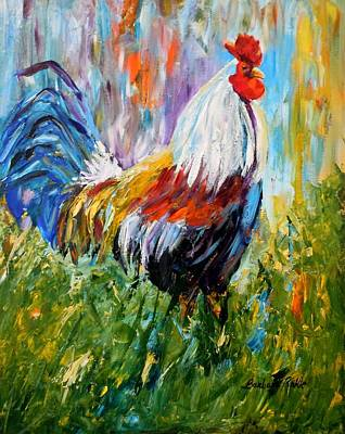 Painting - Barnyard Rooster by Barbara Pirkle