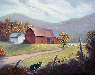 Painting - Barnyard Sentinel by Fran Brooks