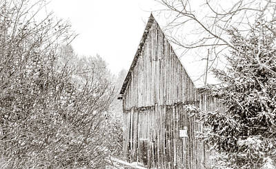 Photograph - Barnyard Snowfall by Cheryl Baxter