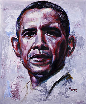 Obama Painting - Barock Obama by Mark Courage