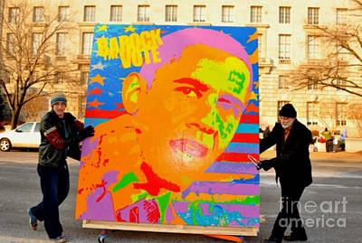 Inaugural Painting - Barock The Vote by Ryan Paul Simmons
