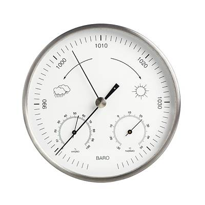 Barometer Photograph - Barometer by Science Photo Library