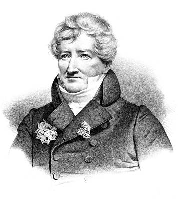 Lapel Painting - Baron Georges Cuvier (1769-1832) by Granger