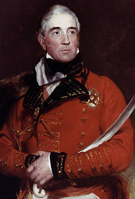 Lapel Painting - Baron Lynedoch (1748-1843) by Granger