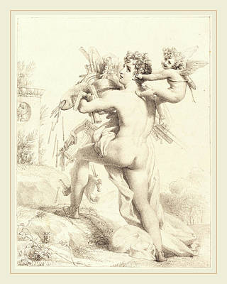 1833 Drawing - Baron Pierre-narcisse Guerin French, 1774-1833 by Litz Collection