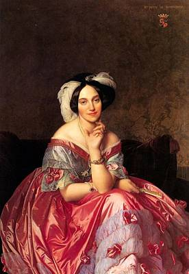 Moscow Painting - Baroness James De Rothschild by Jean-Auguste-Dominique Ingres