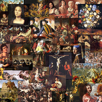 Timelines Mixed Media - Baroque Art 16th To 17th Century by Anders Hingel