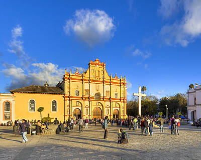 Photograph - Baroque Cathedral In San Cristobal De Las Casas by Mark E Tisdale