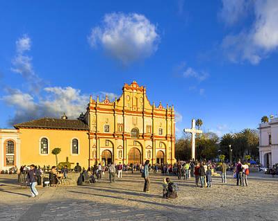 Photograph - Baroque Cathedral In San Cristobal De Las Casas by Mark E Tisdale