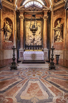 Aisle Photograph - Baroque Chapel by Jose Elias - Sofia Pereira
