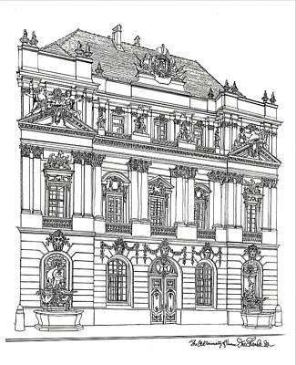 Drawing - Baroque Facade Vienna by Ira Shander
