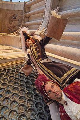 Baroque Gentlemen 12 Art Print by Danilo Piccioni