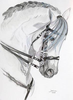 Baroque Horse Art Print by Janina  Suuronen
