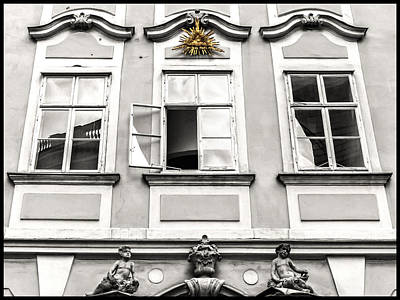 Photograph - Baroque Window Facade With Gilded Eye Of Providence by Menega Sabidussi