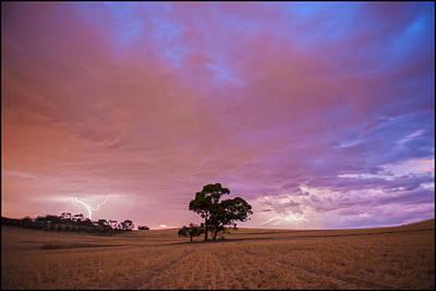 Photograph - Barossa Valley Lightning II by Casey Grant