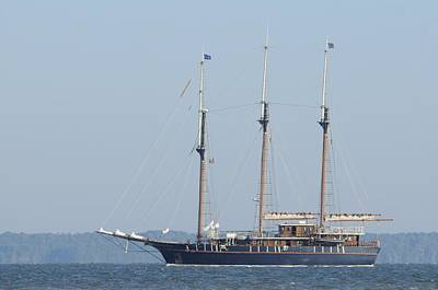 Photograph - Barquentine Peacemaker With Sails Furled by Bradford Martin