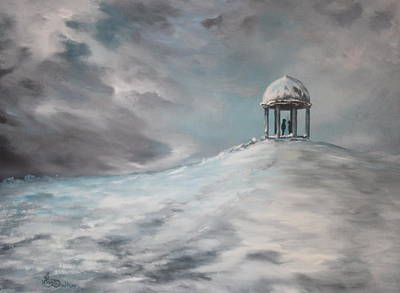 Barr Beacon In The Snow Original by Jean Walker