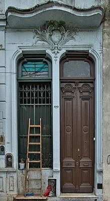 Train Photography - Barracas Doors Buenos Aires by Steven Richman