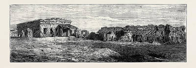 Barrack Drawing - Barracks At Cawnpore, Defended By General Wheeler In 1857 by Indian School