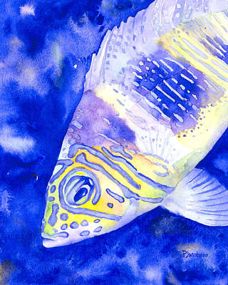 Painting - Barred Hamlet Portrait by Pauline Walsh Jacobson