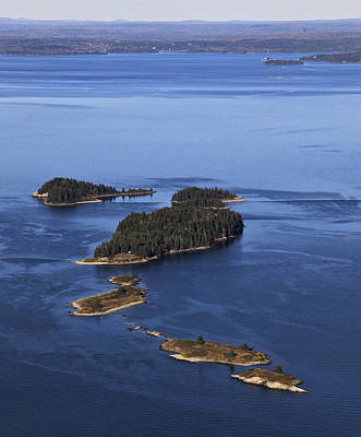Barred Islands, Penobscot Bay Print by Dave Cleaveland