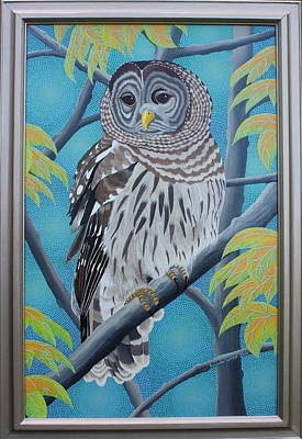 Painting - Barred Owl by Amanda  Lynne