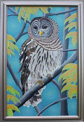 Painting - Barred Owl by Amanda  Lynne