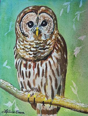 Painting - Barred Owl by LeAnne Sowa