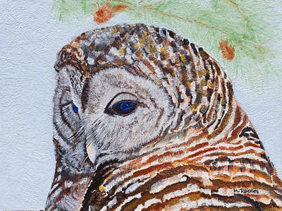 Painting - Barred Owl by Mike Robles