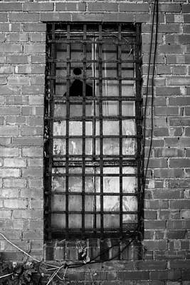 Rusted Photograph - Barred Window by Nathan Hillis