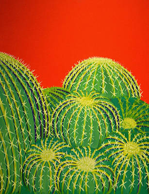 Barrel Painting - Barrel Cactus by Karyn Robinson