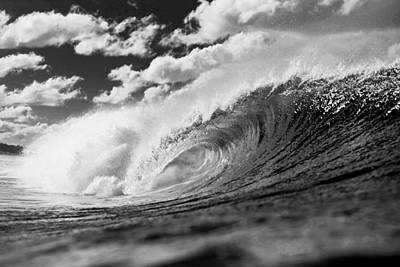 Black And White Surf Photograph - Barrel Clouds by Sean Davey