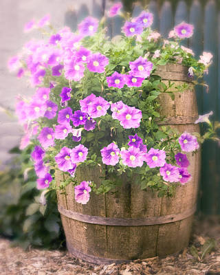 Photograph - Barrel Of Flowers - Floral Arrangements by Gary Heller