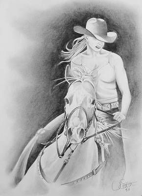 Drawing - Barrel Racer by Jimmy Smith