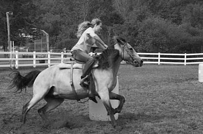 Photograph - Barrel Racer by Paul Miller
